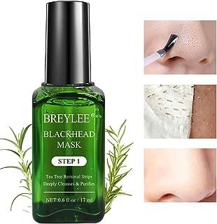Blackhead Mask, BREYLEE Tea Tree Oil Blackhead Remover Mask Blackhead Removal Strips Face Strips Pore Strips Peeling Mask (17mL, 0.6 fl oz) (With 100 Pcs Strip Paper)