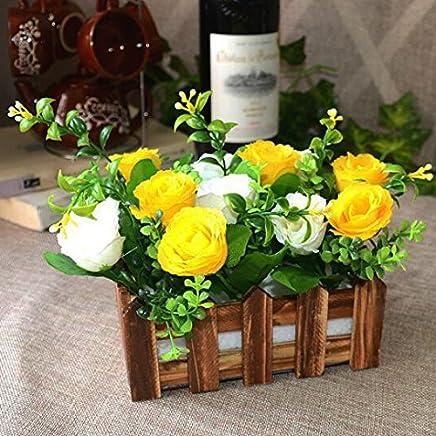 Amazon Fr Jardiniere Exterieur Fleurs Artificielles