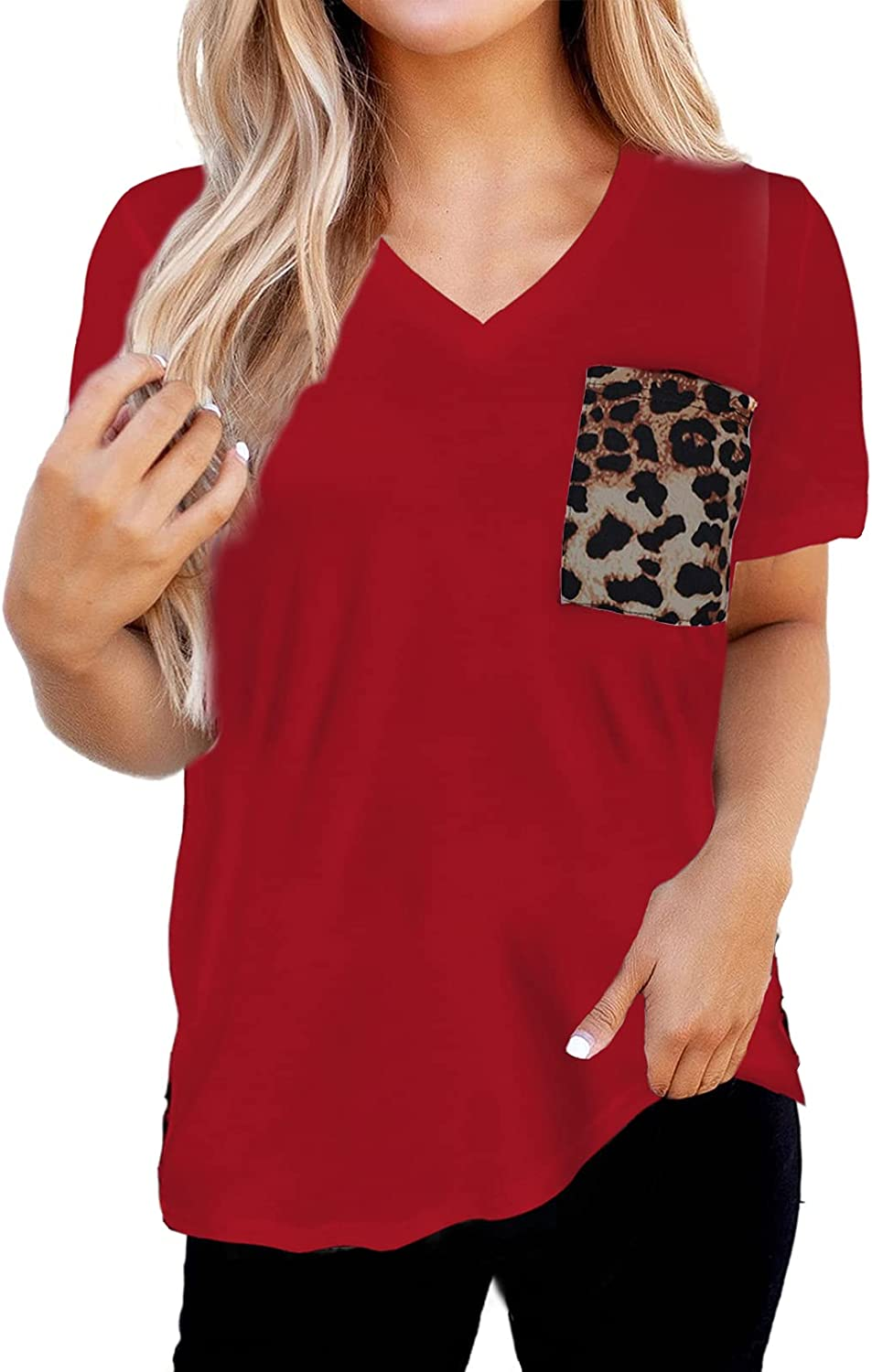 Dokotoo Shirts Sale SALE% OFF for Women Round Los Angeles Mall Sleeve Neck Casual T Short