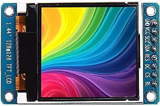 Yadianna 1.44 Inch TFT LCD Color 128 * 128 Display Screen SPI Serial Port Module ST7735 5V Display Module Industrial Equip...