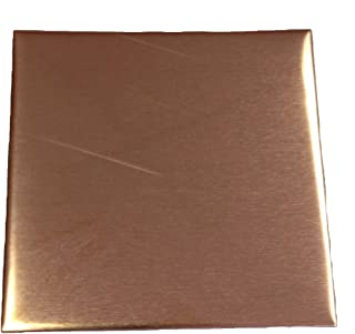 RMP Stamping Blanks, 3 Inch Square, 16 Oz. Copper 0.021 Inch (24 Ga.) - 3 Pack