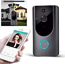 Clenp Draadloze Deurbel Chime, M2 Draadloze Camera Intercom Home Security Alarm Smart WiFi Afstandsbediening Video Deurbel
