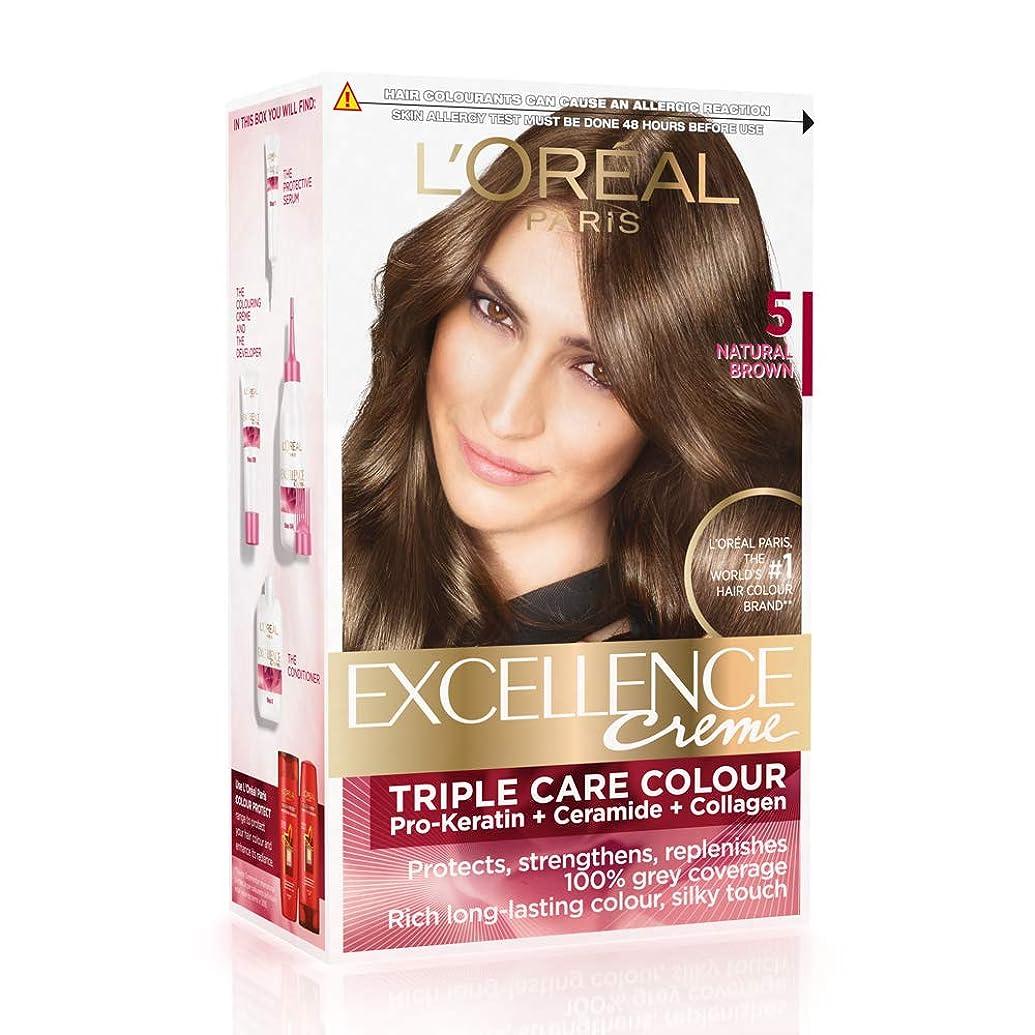 増加する誰も差し控えるL'Oreal Paris Excellence Creme Hair Color, 5 Natural Brown, 72ml+100g