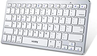 VicTsing Ultra-Slim Bluetooth Keyboard, Portable Wireless Keyboard Support iOS (iPhone, iPad), Android, Windows, Mac Computer, Laptop, Tablet, Smartphone and Other Bluetooth Enabled Devices -White