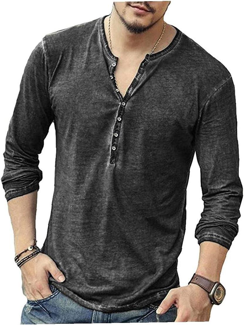 Summer Tops Men Button Kansas depot City Mall T-Shirt V-Neck Vintage Slim Shirt