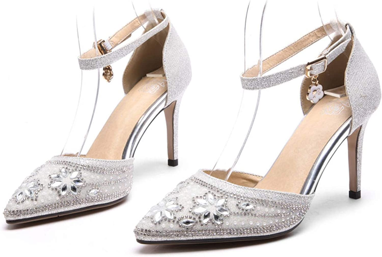 Wedding Sandals High Stiletto Heels Sandals Party Shallow Sexy Silver Summer,Silver,13