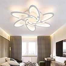 6 Head Modern LED Ceiling Lamp Acrylic Ceiling Lights Flush Mount Ceiling Lighting Fixture for Bedroom Living Room Office ...