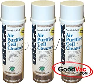 Oreck Assail-A-Cell Air Purifer Cell Cleaner for XL Professional and Tabletop Air Purifiers 3 pack