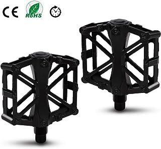 L negro plástico Bicicleta MTB freeride pattform pedales 1 pares R