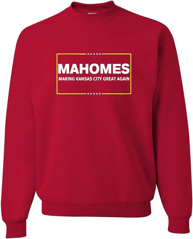 Go All Out Adult Mahomes Making Kansas City Great Again Sweatshirt Crewneck