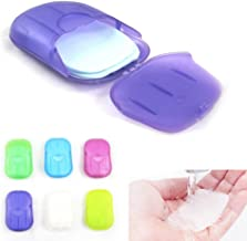 Unbranded Travel Anti-Inflammatory Mini Box Portable Whitening and Exfoliating Soap Strips Sheets (Multicolour)