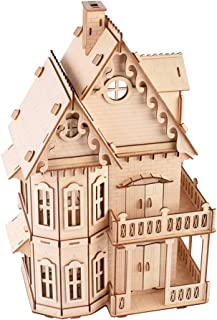 ROBOX 3D Wooden Puzzle for Adults Gothic Villa Model for Boyfriend,Kids,Husband,Christmas,Birthday Gift Model Assembly Woo...