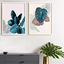 Painting Mantra Floral Theme Set of 2 Framed Canvas Art Print, Painting -13x17 inchs