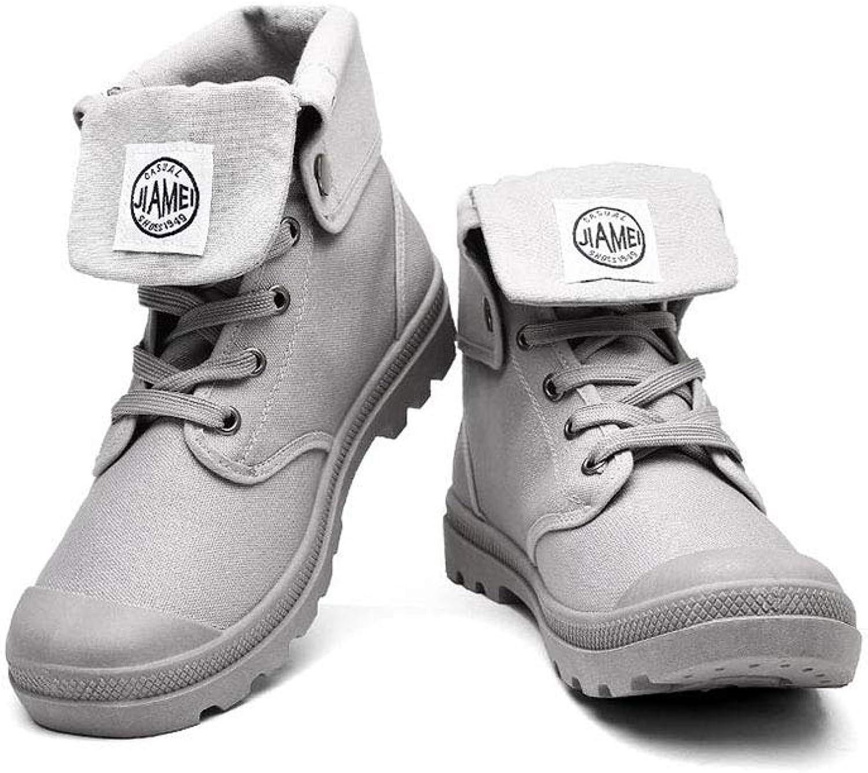 FF Men High Help Canvas Martin Boots Military Boots