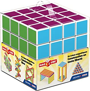 Geomag 129 Magicube Free Building - Magnetic Construction Cubes, 64 -Pieces