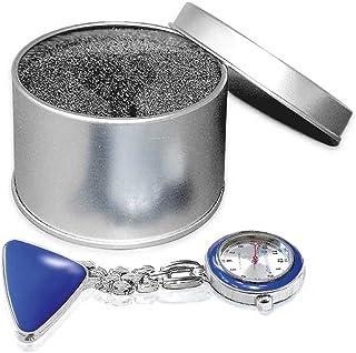 1x ratiomed Hermana Reloj, pulsómetro, Reloj, solapa Reloj, cadena + Clip, caja de metal