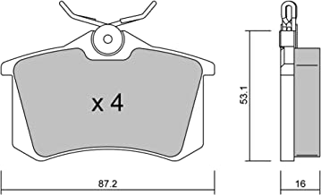 Easy metelligroup 51-0448 Premounted Kit Car Spare Part Kit Composed of 2 Premounted Brake Shoe Parts Fast and Safe Assembly