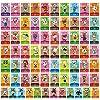 BBear ACNHシリーズ 1-4 NFCカード 72枚 - アニマルクロッシングシリーズ ニューホライゾンズ ゲームビレジャーズカード ランダム スイッチライト Wii U 3DS対応 持ち運び簡単