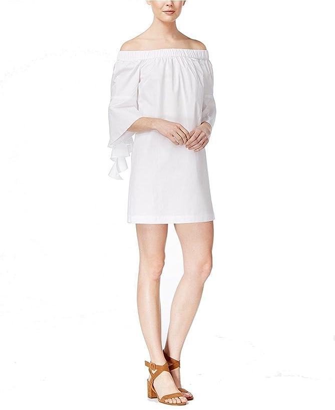 kensie Oxford Off The Shoulder Dress