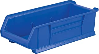 Akro-Mils 30280 20-Inch D by 12-Inch W by 6-Inch H Super Size Plastic Stacking Storage Akro Bin, Blue, Case of 4