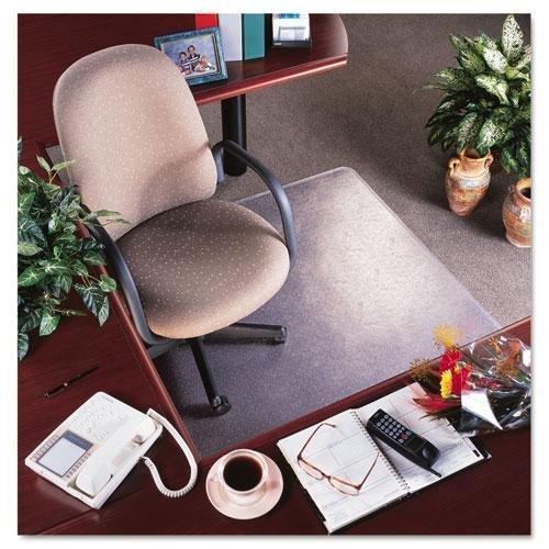 Tapete de cadeira de uso frequente para carpete de empilhamento médio da deflecto CM15113, 36 x 48 com lábios, transparente