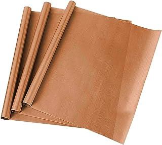 YeenGreen Papier de Cuisson, Papier Cuisson réutilisable, Papier de Cuisson de Fibre de Verre, Antiadhésifs, Durables, Déc...