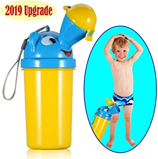 Portable Baby Child Boys Potty Urinal Reusable Car Toliet Urinal Pot Hygienic Leak Proof Emergency Toilet Travel Chamber Pot Kids Pee Training with a Lid and Funnel for Car Camping Outdoor Walking