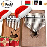 Scorina Kalimba 17&10 Two Pack Kalimba Thumb Piano,With Study Instruction And Tune Hammer(Christmas New Design),Best Christmas' Gifts For Adult,Kids...
