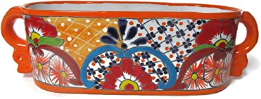Talavera Window Box w/Handles Large (Orange)