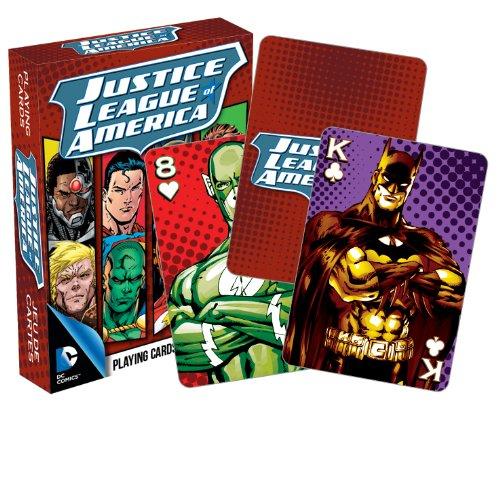 AQUARIUS DC Comics- Cartas, diseño de Liga de la Justicia de América