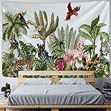 KHKJ Tapiz de Palmera para Colgar en la Pared, Hojas Tropicales, patrón de Flores, Fondo de Animales, Tela de Pared, tapices de Alfombra, A16 95x73 CM