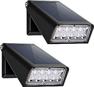 Staright 2pcs Refletor Solar 10 LED Solar spot Light dobrável montado na parede lâmpada de controle de indução IP65 à prov...