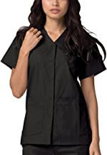 Adar Universal Double Pocket Snap Front Scrub Top (Available in 39 solid colors)