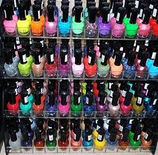48 Piece Rainbow Colors Glitter CVC Nail Polish Lacquer Set + 3 Scented Nail Polish Remover by cherimoya vernis classique