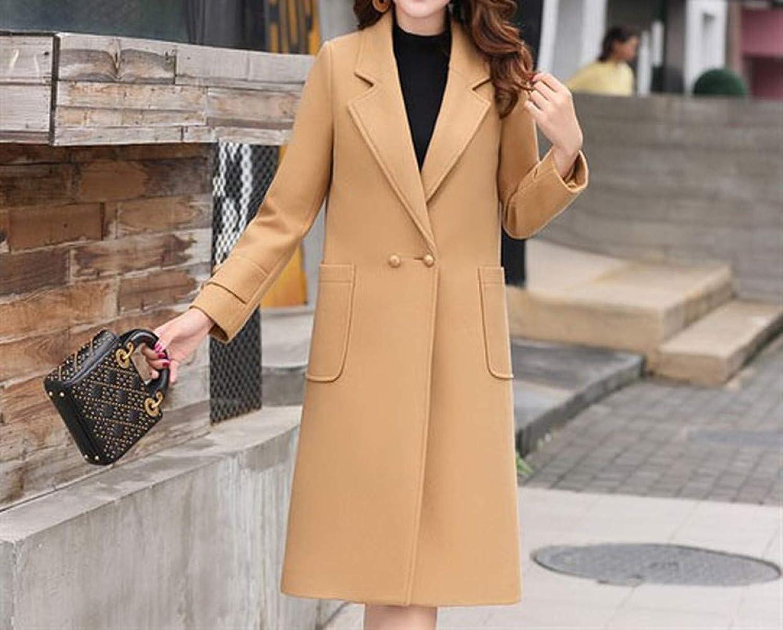Coat Jacket, Woolen Coat, Woolen Coat, Female MidLength Tide Fashion Thickening Nizi Over The Knee Winter Woolen Coat PLLP