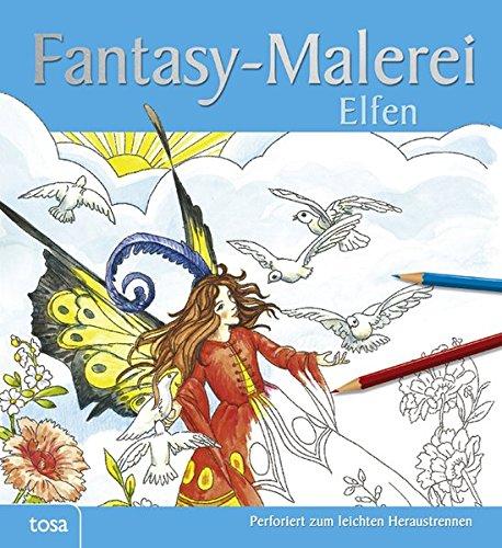 Fantasy-Malerei Elfen: Perforiert zum leichten Heraustrennen
