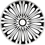 AUTOSTYLE PP 5257 Volante - Set de tapacubos, 17 Pulgadas, Color Plata y Negro