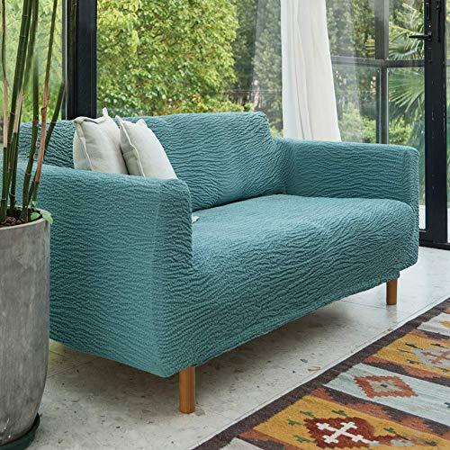 XHNXHN Funda de sofá elástica Jacquard para Perros, Funda de sofá Antideslizante para sofá de 3 Cojines, sillón de Dos plazas, Funda reclinable, Protector Duradero para Muebles, Azul sin Brazos / 6