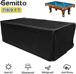 GEMITTO 7/8/9 ft Pool Table Cover, Waterproof Billiard Cover Polyester Fabric for Snooker Billiard Table (102x53x32in)