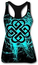 Tank Tops for Women's Break Blue Benjam Sleeveless Workout Tees Girls O Neck Casual Training Shirts