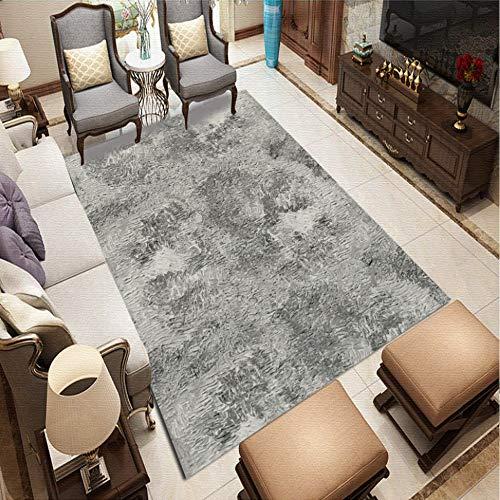 DEORBOB Rectángulo Estilo minimalista moderno Estampado de franela Alfombras ultra suaves que absorben el aceite y el agua Manta fácil de limpiar para la cocina Baño Alfombra del piso de la habitación