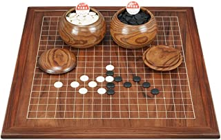Luckyw Dubbelsidigt schackbräde i trä för vuxna nybörjare barn