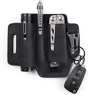 Olefu Multitool Sheath for Belt, Leather EDC Pocket Organizer for Men, Leather Man Sheath with Pen Holder, Key Fob Flashli...