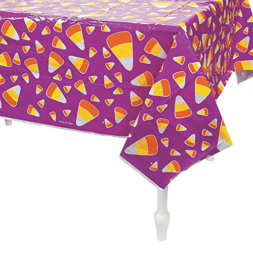 CANDY CORN TABLECLOTH - Party Supplies - 1 Piece