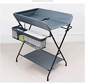 Diaper Station Portable Changing Table with Storage  Folding Toddler Diaper Station Nursery Dresser Cross Leg Style  Color