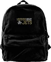 MIJUGGH Canvas Backpack London Jets Zero Gravity Football Red Dwarf Rucksack Gym Hiking Laptop Shoulder Bag Daypack for Men Women