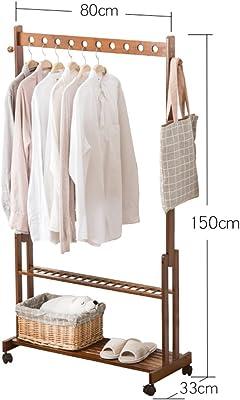 051b2837d4d COAT RACK ZHIRONG Multifunction Floor-standing Bamboo Arts Hangers Living  Room Shelf Bedroom Clothes Rack