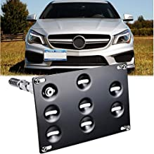 GTP Tow Hook License Plate Mounting Bracket for Mercedes GLA W204 W205 C-Class W212 W213 E-Class GLK GLC W166 ML GLE Class...