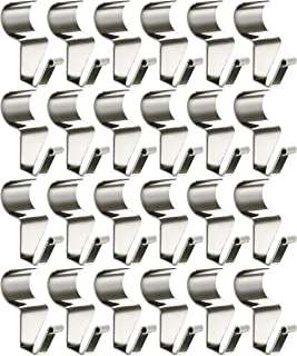 Vinyl Siding Hooks for Hanging (24 Pack), Heavy Duty Stainless Steel Low Profile No-Hole Hanger Hooks