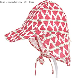 Special&kind Sun Hat Visor Big Hat Breathable Quick-Drying Cap Sunscreen Printing Lace Suitable for 6-18 Months/ 2-5 Years Old Six Colors, H09, pequeño